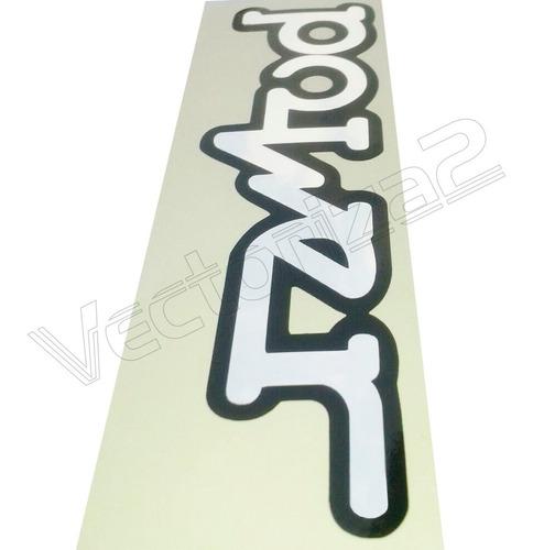 calcomania fiesta power diseño 100% original