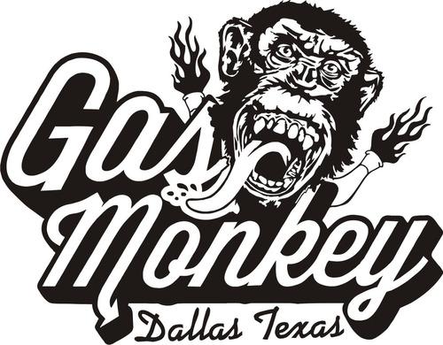 calcomanía gas monkey 02 - 20 x 25 cm graficastuning