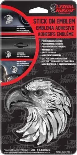 calcomanía lethal threat 3d águila de cabeza