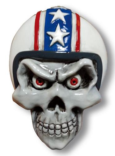 calcomanía lethal threat 3d retro blanco biker