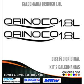 Calcomania Orinoco 1.8l Rotuladas, Precio En La Descripcion