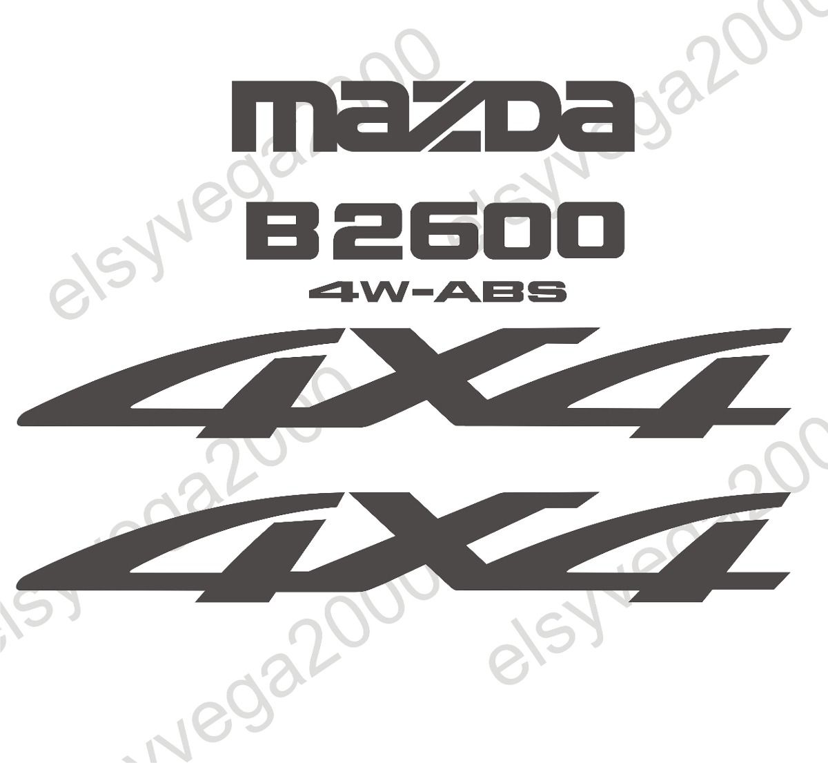 Calcomania para mazda 4x4 bt 50 y b2600 precio por unidad for Precio logo