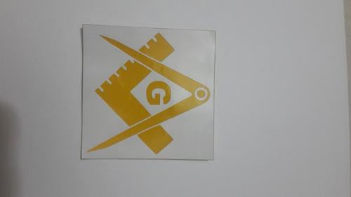 calcomanía pegatina sticker transflectivo masón masonería