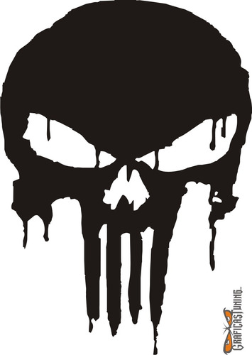 calcomanía punisher 06 28 x 20 cm graficastuning