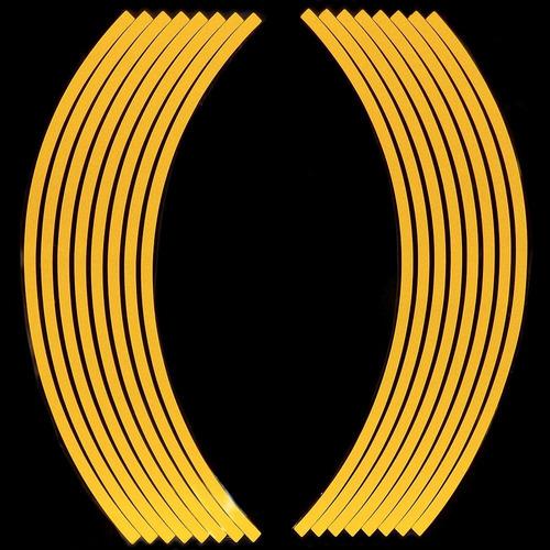 calcomania reflectiva curva y un rollo de cinta de 10 metros