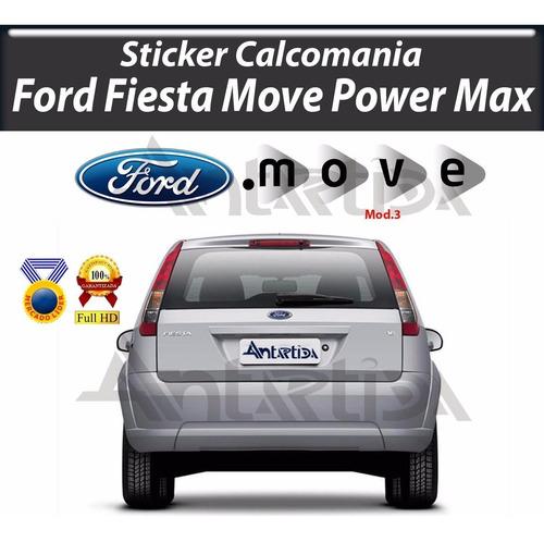 calcomania sticker ford fiesta power move max anil-005 r 5
