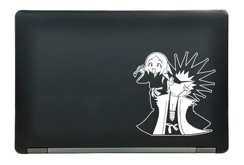 calcomanía sticker kenpachi zaraki & yachiru kusajishi bleach anime manga laptop auto ventana 6.25x6.40 pulgadas wd15