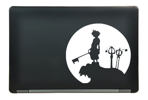 calcomanía sticker kingdom hearts sora anime manga laptop auto ventana 6.25x5.76 pulgadas wd40