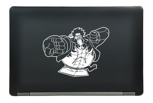 calcomanía sticker one piece luffy fourth gear anime manga laptop auto ventana 7.25x5.44 pulgadas wd48