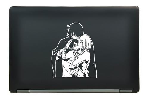 calcomanía sticker sasuke sakura sarada naruto anime manga laptop auto ventana 5.89x7.25 pulgadas wd56