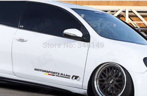calcomania sticker vw r line jetta, polo, bora, gti, vento