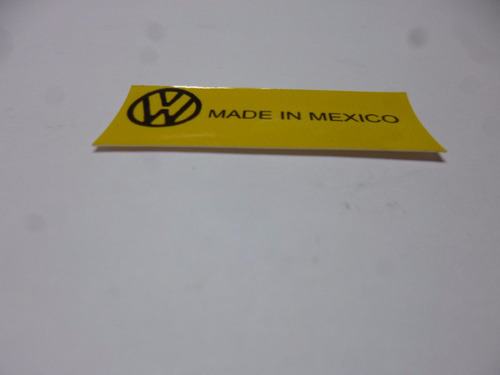 calcomania vw made in mexico radiador defroster caribe a1