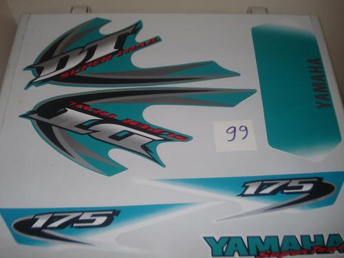 calcomania yamaha dt175 supertrial  +super  combo de lujo