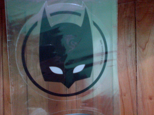 calcomanias 3 stickers batman mascara murcielago dc comics