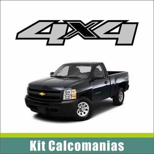 calcomanias 4x4 camioneta silverado
