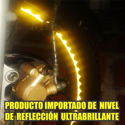 calcomanias cintas reflectivas para rin motos carros