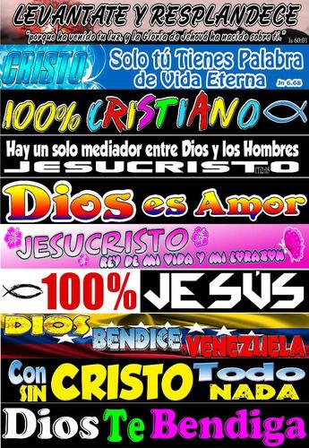 calcomanias cristianas para carros