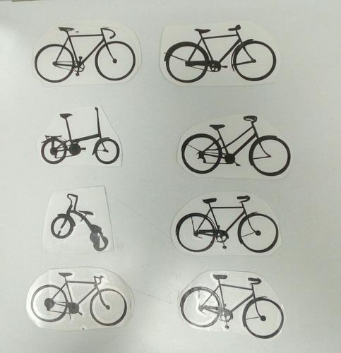 calcomanías en vinil silueta de bicicletas