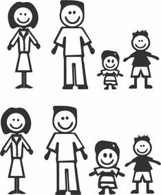 Calcomanias Familia Sticker En Vinil Para Carros
