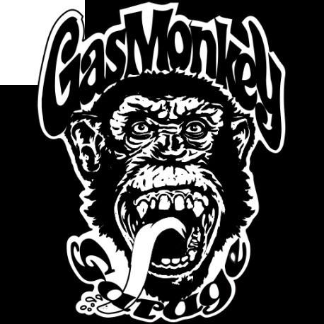 calcomanias gas monkey duo mecanico vinil sticker!!