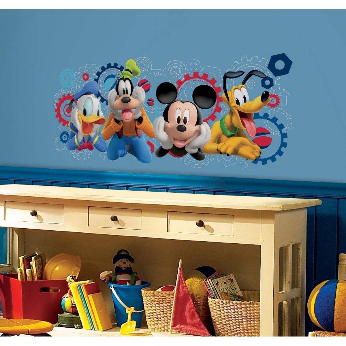 Vinilos Mickey Mouse Para Pared.Calcomanias Gigante Para Pared Vinilo Mickey Mouse