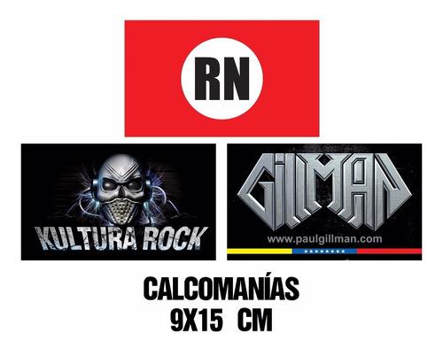 calcomanias - gillman - rock nacional y kultura rock