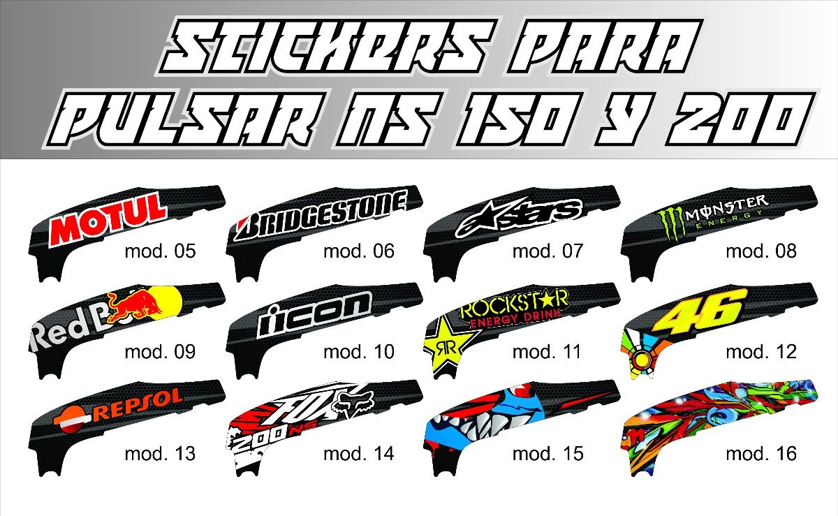 Calcomanias kit para pulsar 200ns y 150ns bajaj for Donde venden stickers para pared