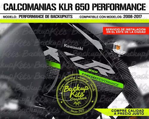 calcomanias klr 650 performance 2016 / kit de graficos