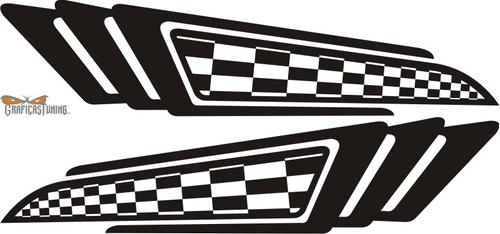 calcomanías laterales para autos 01 graficastuning
