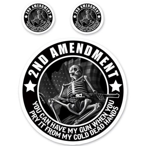 calcomanías lethal threat pequeñas 2nd amendment cráneo