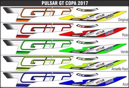 calcomanias pulsar gt 180 tipo original