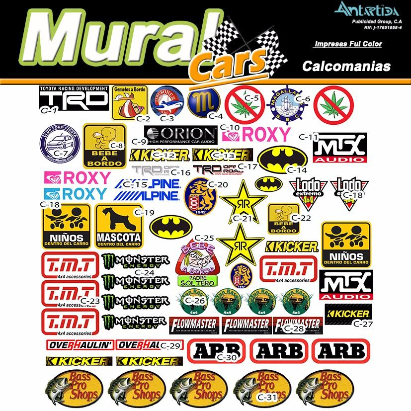Calcomanias rotulos stickers para carros y motos bs 5 for Donde venden stickers para pared