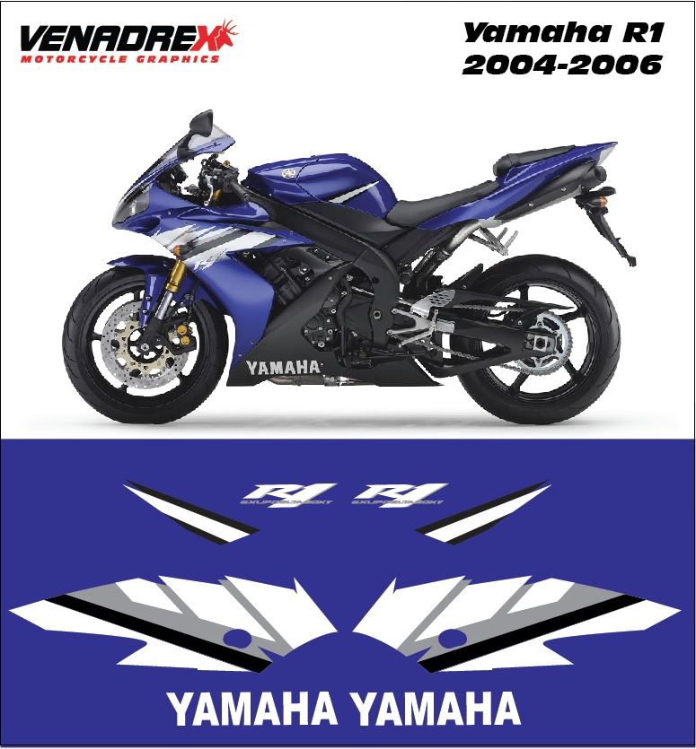 calcomanias stickers yamaha r1 2004 2006 en mercado libre. Black Bedroom Furniture Sets. Home Design Ideas