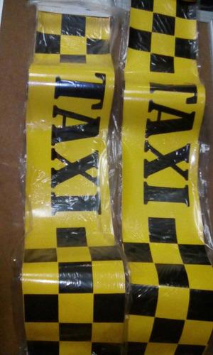 calcomanías taxi para vehículos 100cm largo x 12 ancho
