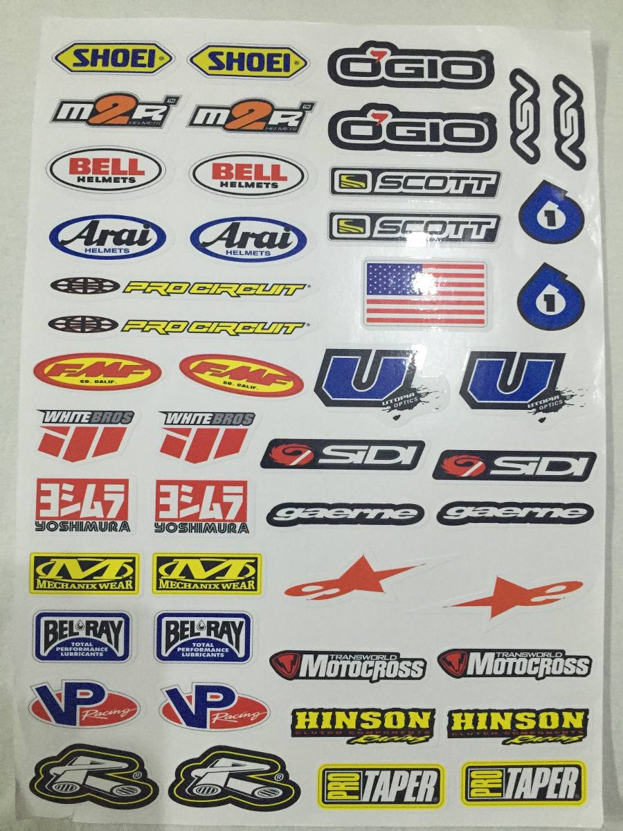 Calcomanias varias para moto envio gratis en for Calcomanias para pared