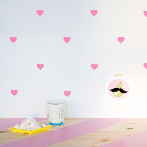 calcomanias vinil para paredes etiquetas, kit de corazones.