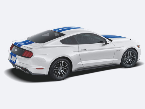 calcomanias vinilo azul doble linea ford mustang 16/18
