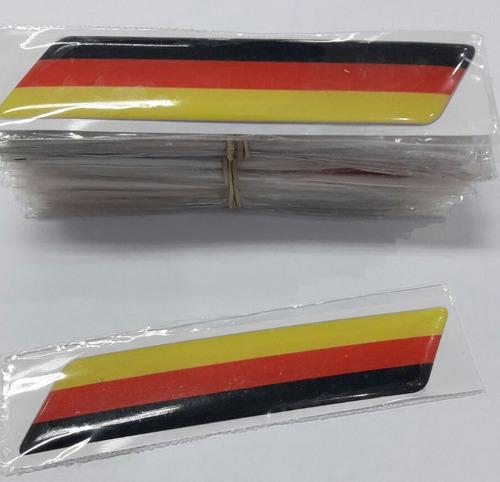 calcos banderines 3d bandera alemania hori 12cmx2.5cm vw-bmw
