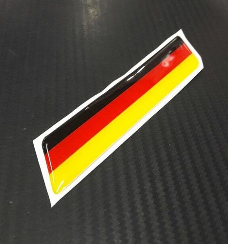 calcos banderines 3d para auto bandera alemania 12cmx2.5cm