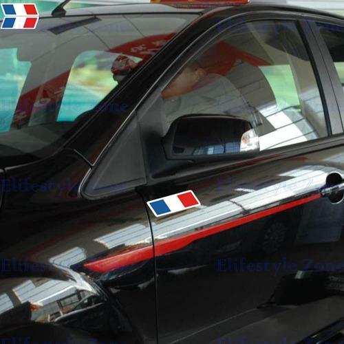 calcos banderines 3d para auto bandera francia 12cmx2.5cm