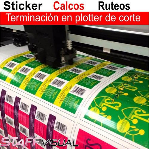 calcos botellas frascos personalizados sticker 100 unidades