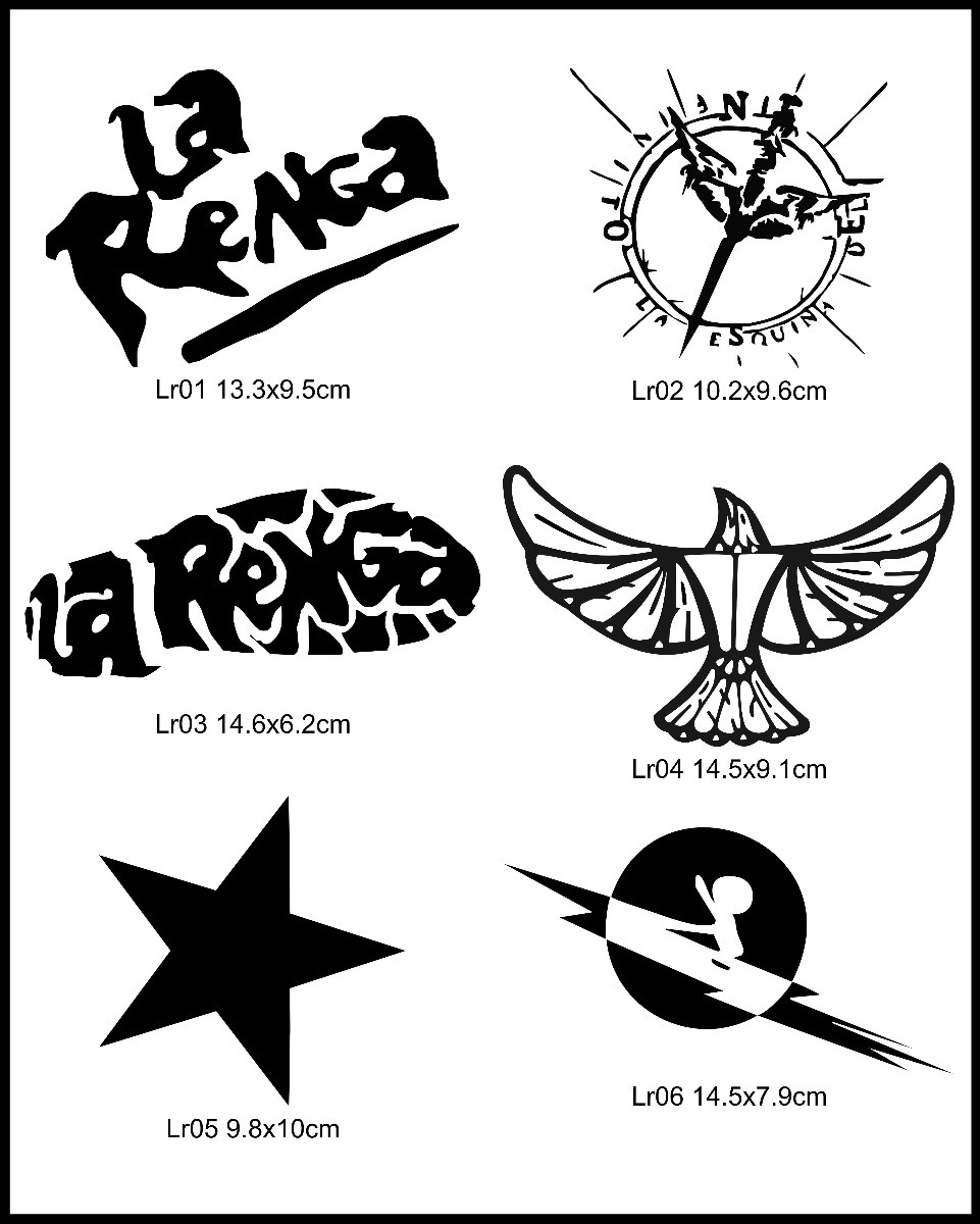 Calcos En Vinilo Autoadhesivo La Renga Bandas Musica Rock 32