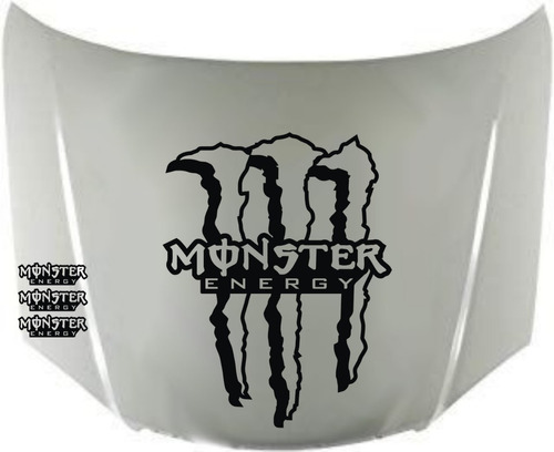 calcos monster energy para capot + regalo !! graficastuning 00021