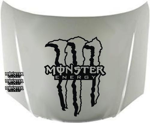 calcos monster energy para capot + regalo !! graficastuning