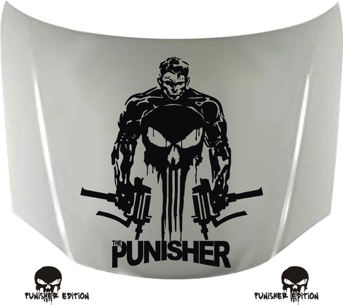 calcos punisher edition 02 para capot + regalo !! graficastuning 00088