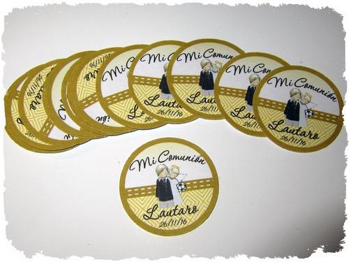 calcos stickers personalizados 5cm x 50 unid