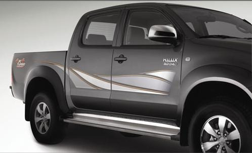 calcos toyota hilux d/c 2009/2014 kit completo alternativo