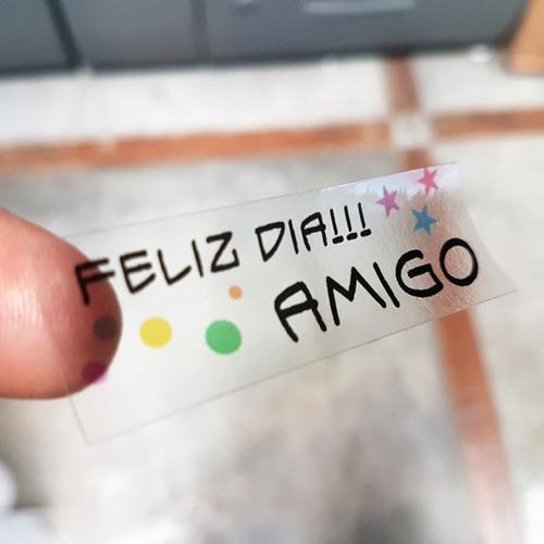 calcos transparentes sticker personalizado etiquetas frascos