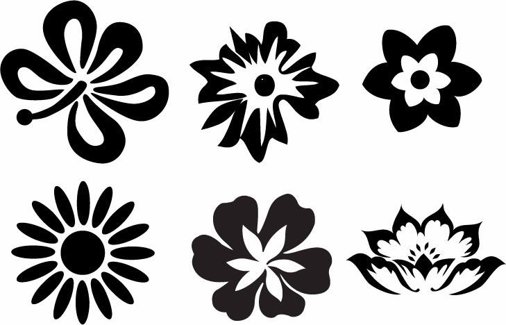 Flores decoracion pared pegatinas de pared de etiquetas de la pared flores negras pegatinas de - Flores para decorar paredes ...
