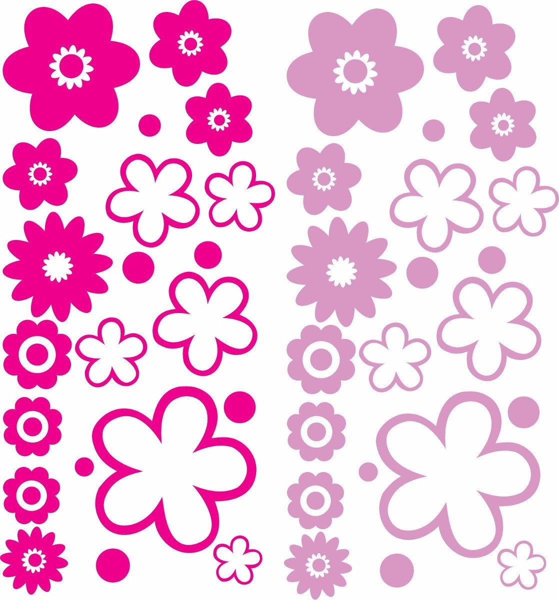 Vinilos de flores para pared necesitas unas flores para for Stickers para decorar paredes